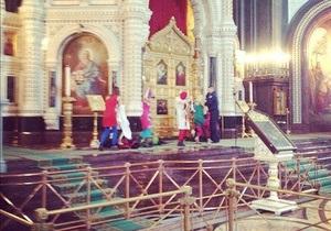 Скандальная группа российских феминисток выступила в храме Христа Спасителя
