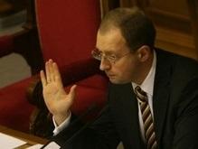 Яценюк не стал ставить на голосование во втором чтении законопроект о Кабмине