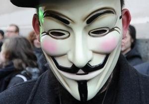 Группировка Anonymous взломала сайт Минюста США