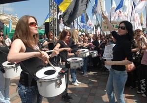 Оппозиция намерена пройти маршем в центре Киева