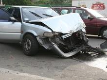 В Киеве столкнулись полсотни автомобилей