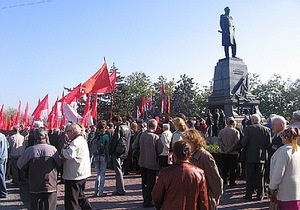 В Севастополе митинг, посвященный Октябрьской революции, продлился менее получаса