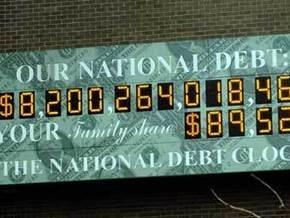 На табло Показателя нацдолга США закончилось место