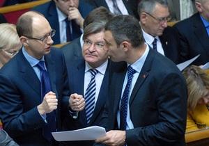Яценюк намерен передать Януковичу семь требований оппозиции