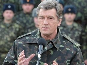 Сегодня Ющенко отпразднует 17-летие внутренних войск