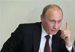 Российские спецслужбы не нашли предмет, повредивший колесо машины Путина