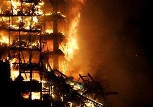 В Киеве на бульваре Лепсе горели офисные помещения