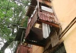 В Днепропетровске балкон обвалился вместе с хозяином квартиры