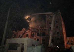 В Киеве на Подоле горел памятник архитектуры