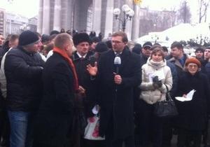 Активисту, пытавшемуся в эфире с Майдана Незалежности задать вопрос Януковичу, пообещали  поломать ноги