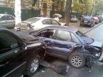 Масштабное ДТП в Киеве: столкнулись семь автомобилей