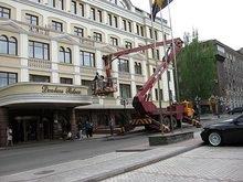 Лучшая гостиница Донецка готовится к приему Ющенко