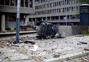 Масса бомбы, взорванной в центре Осло, составляла полтонны