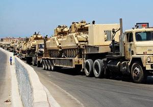 Египет перебрасывает на Синайский полуостров танки и тяжелую технику