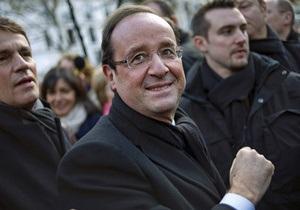Предварительные итоги: Олланд и Саркози выходят во второй тур выборов. Саркози идет вторым