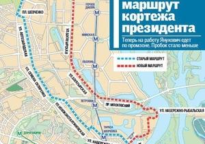 Источник: Маршрут следования кортежа Януковича поменяли из-за готовящегося покушения