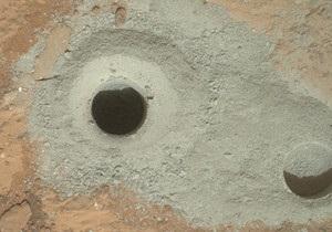 Curiosity - марсоход Кьюриосити добыл первую пробу породы грунта Марса