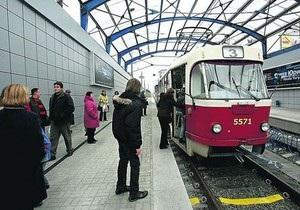 Две станции скоростного трамвая в Киеве обещают открыть через две недели