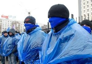 Площадь под ЦИК заполнили несколько тысяч сторонников Януковича