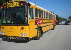 В США столкнулись четыре школьных автобуса с детьми