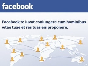 Facebook обзавелся версией на латыни