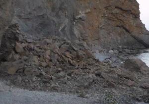 новости Крыма - Судак - обвал - В Судаке обвалилась часть горы, один турист погиб, еще один госпитализирован