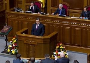 Энергетика, экспорт и железная дорога: Янукович очертил приоритеты работы Рады в 2012-м году
