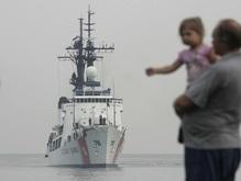 Американский военный корабль стал на рейд в Поти
