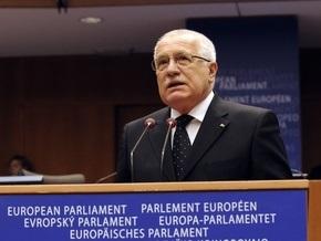 Президента Чехии освистали на заседании Европарламента