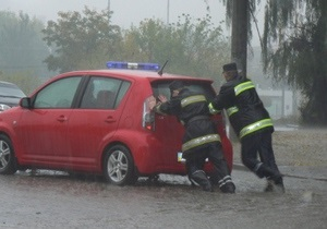 Стихия в Кировограде: центральная часть города затоплена