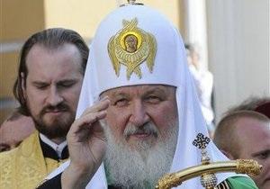 Кирилл прочел молитву на украинском языке