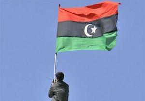 Посольство Ливии в Украине вывесило флаг оппозиции