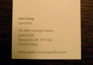 В Apple работает сотрудник по имени Сам Сунг