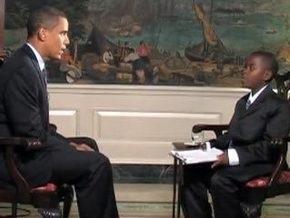 Обама дал интервью 11-летнему школьнику