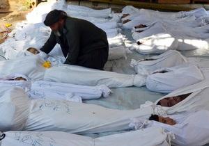 Сирия - Химическая атака в Сирии: повстанцы заявляют о 1100 погибших