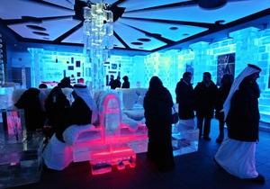 Шесть градусов мороза в ОАЭ. В Дубае появилось ледяное кафе