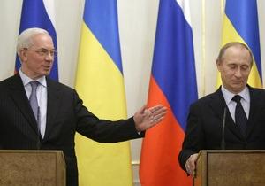 Азаров: Украина настаивает на пересмотре газовых контрактов