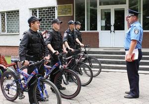 В Луцке милиционеров пересадили на велосипеды