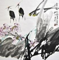 Выставка китайской живописи  Ветка дерева помнит о весеннем ветре