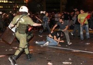 У здания парламента Греции прошла масштабная акция протеста