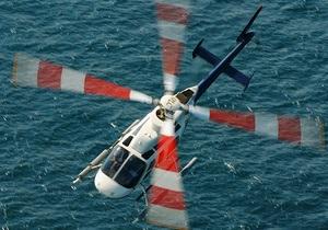 В Волгу упал частный вертолет