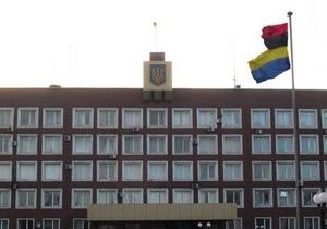новости Енакиево - В Енакиево над зданием горсовета вывесили флаг УПА