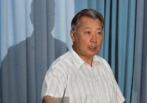 В Кыргызстане подготовили декрет, позволяющий лишить Бакиева неприкосновенности