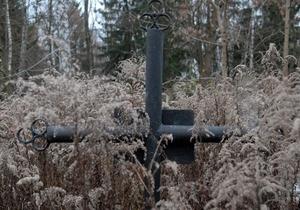 В Киеве на Лесном кладбище найдена мина времен войны