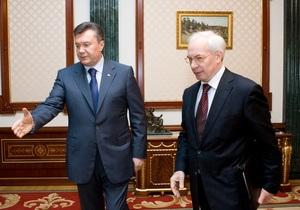 Янукович - Азарову: Необходимо пересмотреть уровень зарплат и пенсий