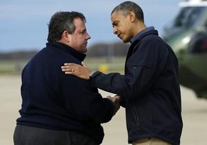 Обама посетил пострадавший от урагана Нью-Джерси