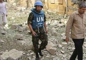 Вблизи главы наблюдателей ООН в Дамаске взорвался фугас