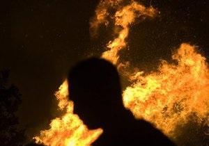 Под Киевом сгорели шесть дачных домов