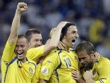 Евро-2008: Ибрагимович отличился за сборную Швеции впервые за три года
