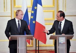 Олланд и Путин поговорили о Сирии